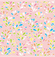 baby floral pattern texture with drops vector image