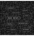BAD NEWS vector image vector image