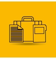 bag smartphone tools office paper vector image