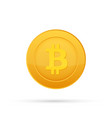 bitcoin flat icon crypto currency bit coin vector image