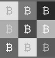 bitcoin sign grayscale version of popart vector image vector image
