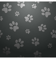 black footprints seamless pattern vector image