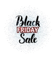 Black Friday Sale Lettering over Silver vector image vector image
