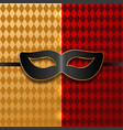 black mask on carnival background vector image vector image