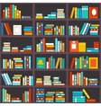 Bookshelf seamless background vector image vector image