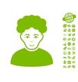 Brunet Man Icon With Free Bonus vector image vector image