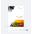 Business Brochure template layout cover vector image