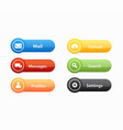 call to action buttons set design vector image