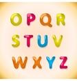 candy alphabet o - z vector image vector image