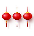 chinese traditional hanging red lanterns vector image vector image