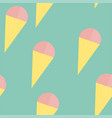 cute ice cream seamless vector image vector image