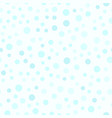 cyan polka dot pattern seamless background vector image vector image