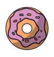 delicious donut cartoon vector image vector image