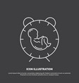 delivery time baby birth child icon line symbol vector image