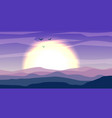 desert panoramic landscape with dunes and sunset vector image vector image