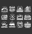 farming cattle farm and agriculture icons vector image