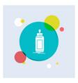 feeder bottle child baby milk white glyph icon vector image