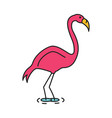 flamingo icon cartoon style vector image vector image