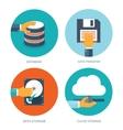 flat data storage cloud vector image