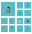 flat icons elf evil wizard and other vector image vector image
