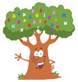 Friendly Alphabet Tree Waving vector image vector image