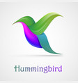 hummingbird abstract symbol vector image