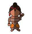indian woman cartoon vector image vector image