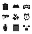 information exchange icons set simple style vector image vector image