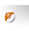 isolated baked of croissant bread vector image vector image