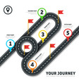 Journey road map business cartography vector image vector image