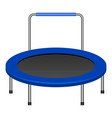 jumping trampoline icon realistic style vector image vector image