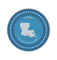 label with map louisiana denim style vector image