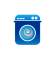 laundry logo template design wash machine laundry vector image vector image