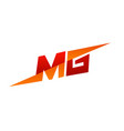 letter mg logo speed design concept template vector image
