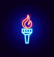 liberty fire neon sign vector image