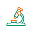 microscope icon on white background vector image vector image