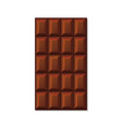 milk chocolate bar on white background vector image vector image
