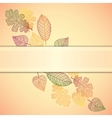 Ornamental background with art autumn leaves and vector image vector image