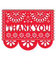 papel picado design - thank you card vector image vector image