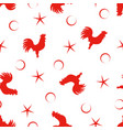 pattern with rooster vector image