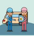 people car service vector image