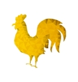 Polygonal Gold Rooster Silhouette vector image