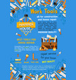 poster of house repair work tools vector image vector image
