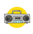 radio cassette player vector image vector image