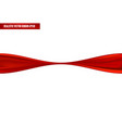 realistic red ribbon in twisted position vector image vector image