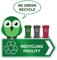 recycling sign vector image vector image