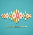 Retro card with sound waveform vector image
