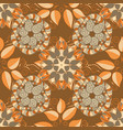 rustic chic seamless folk pattern in small wild vector image