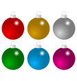 Set of colored Christmas balls vector image