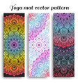 set of colorful yoga mat pattern vector image vector image